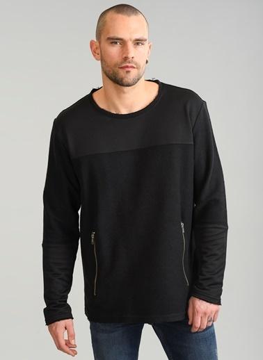 People By Fabrika Fermuar Detaylı Sweatshirt Siyah